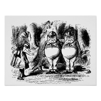 Alice vintage au pays des merveilles, Tweedledum Poster