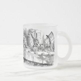 Alice vintage au thé fou de chapelier du pays des mug en verre givré