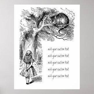 Alice vintage chat au pays des merveilles, posters