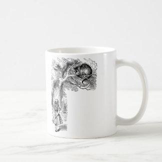 Alice vintage chat au pays des merveilles, mug blanc