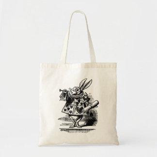 Alice vintage chez le lapin blanc du pays des sac en toile