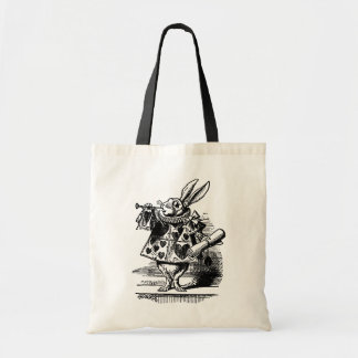 Alice vintage chez le lapin blanc du pays des sac en toile budget