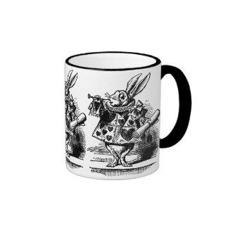 Alice vintage chez le lapin blanc du pays des mug ringer