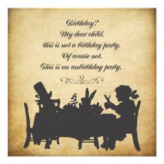 Alice vintage dans l anniversaire de thé du pays d faire-parts