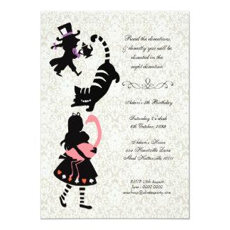 Alice vintage dans l'anniversaire de thé du pays carton d'invitation  12,7 cm x 17,78 cm