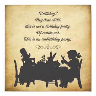 Alice vintage dans l'anniversaire de thé du pays carton d'invitation  13,33 cm
