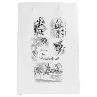 Alice vintage dans le sac orienté de cadeau du