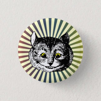 Alice vintage dans l'insigne d'art de chat de badges