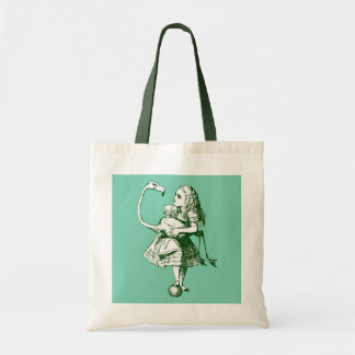 Alice vintage et flamant au pays des merveilles sac en toile budget