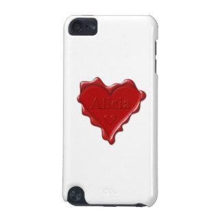 Alicia. Joint rouge de cire de coeur avec Alicia Coque iPod Touch 5G