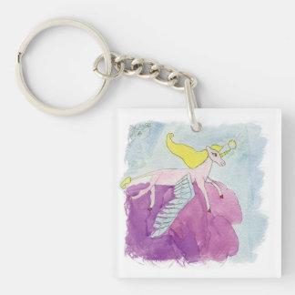 Alicorn s'est envolé le cheval rose de poney porte-clefs