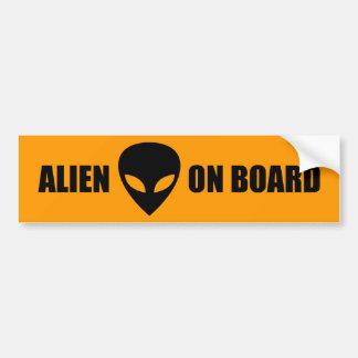 Alien à bord autocollant de voiture
