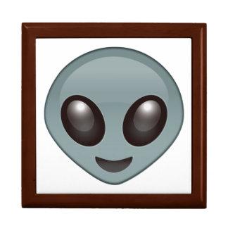 Alien - Emoji Grande Boîte À Bijoux Carrée
