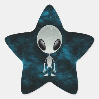 Alien mignon autocollants en étoile