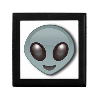 Alien observé par insecte petite boîte à bijoux carrée