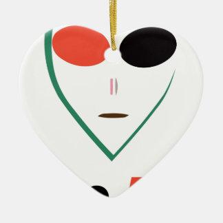 alien ornement cœur en céramique