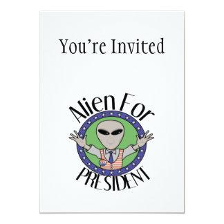 Alien pour le président carton d'invitation  12,7 cm x 17,78 cm