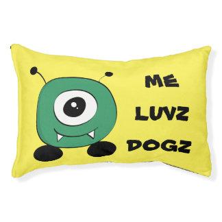 Alien vert drôle mignon lit pour chien