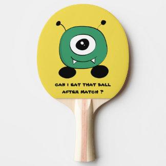 Alien vert drôle mignon raquette tennis de table
