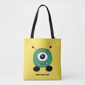 Alien vert drôle mignon sac