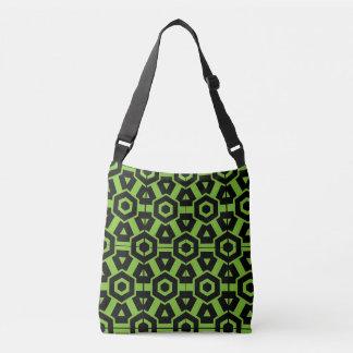 alien vert et motif noir de sac