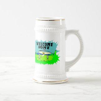 Aliens à la maison bienvenus chope à bière