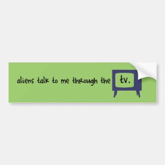 Aliens dans mon poste TV Autocollant De Voiture