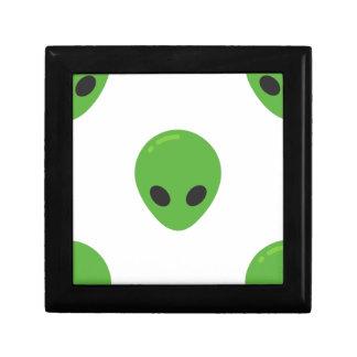 aliens d'emoji petite boîte à bijoux carrée