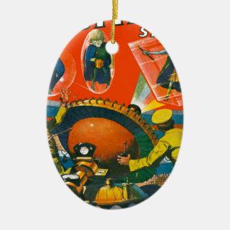 Aliens observés par insecte dans les caps ornement ovale en céramique