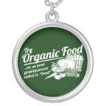 Aliment biologique - vos grands-parents l'ont appe colliers personnalisés