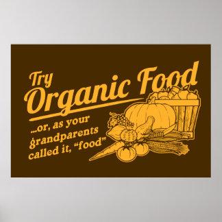 Aliment biologique - vos grands-parents l'ont appe affiche