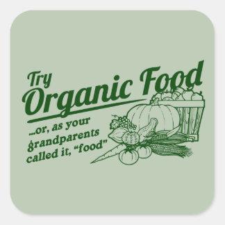 Aliment biologique - vos grands-parents l'ont sticker carré