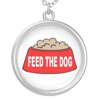 Alimentation rouge de bol d'aliments pour chiens collier personnalisé