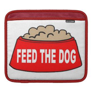 Alimentation rouge de bol d'aliments pour chiens d housses iPad