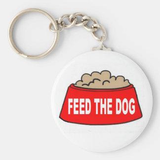 Alimentation rouge de bol d'aliments pour chiens d porte-clés