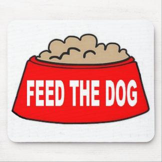 Alimentation rouge de bol d'aliments pour chiens d tapis de souris