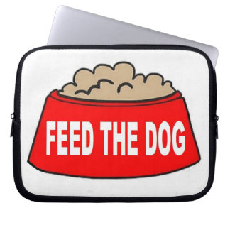 Alimentation rouge de bol d'aliments pour chiens d trousse ordinateur