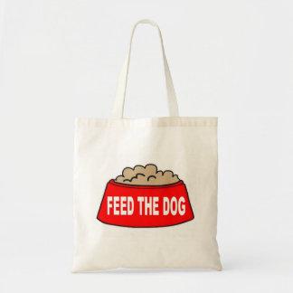 Alimentation rouge de bol d'aliments pour chiens sacs en toile