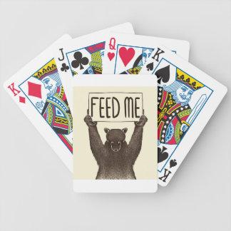 Alimentez-moi et dites-moi que je suis joli ours jeu de cartes