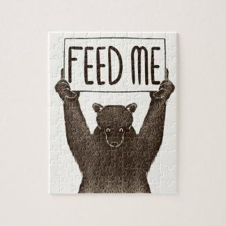 Alimentez-moi et dites-moi que je suis joli ours puzzle