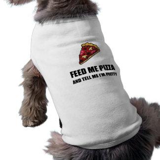 Alimentez-moi la pizza assez t-shirt pour chien