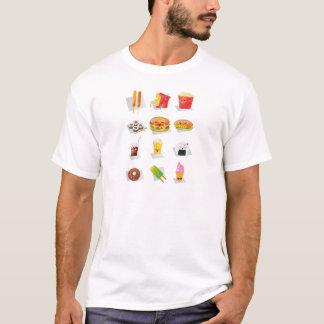 aliments de préparation rapide de kawaii t-shirt