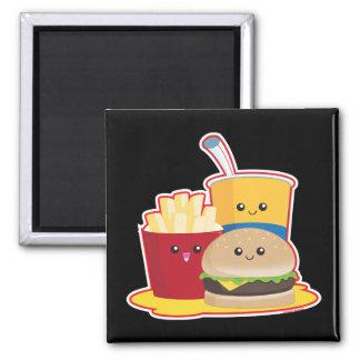 Aliments de préparation rapide magnet carré