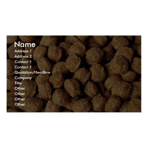Aliments pour chiens modèles de cartes de visite