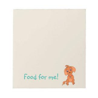 Aliments pour chiens de bloc - notes - heureux blocs notes