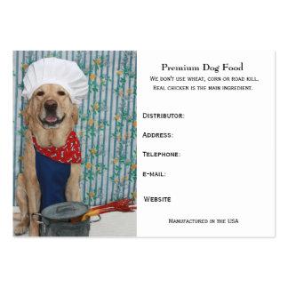 Aliments pour chiens de la meilleure qualité carte de visite grand format