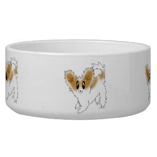 Aliments pour chiens de Papillon de chiot ou cuvet Écuelle Pour Chien