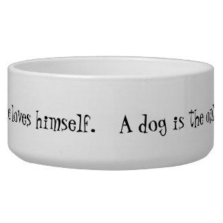 Aliments pour chiens et cuvette en céramique de l' écuelle pour chien