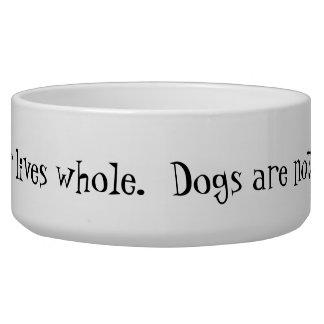 Aliments pour chiens et cuvette en céramique de l' bols pour chien