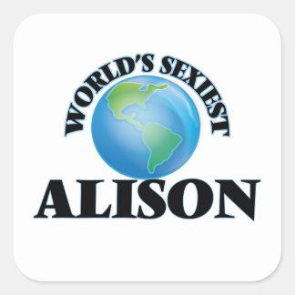 Alison la plus sexy du monde sticker carré